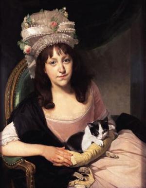 Johann Zoffany (1733 - 1810) Portrait of Sophia Dumergue