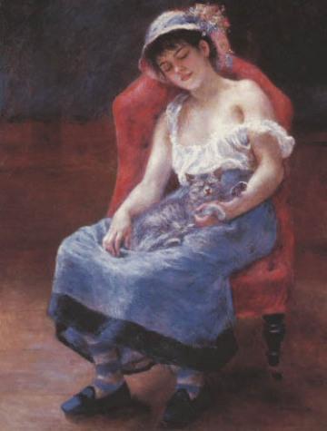 Pierre Auguste Renoir /schlafendes Mädchen