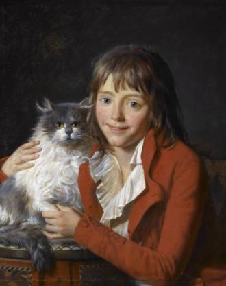 Jean Francois Garnerey (1755 - 1837) Ambroise-Louis Garnerey als Kind mit Katze