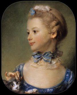 Jean Baptiste Perronneau (1715 - 1782) Mademoiselle Huquier