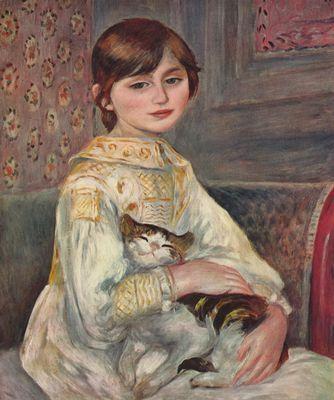 Renoir / Portrait der Julie Manet mit Katze