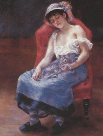 Pierre August Renoir / schlafendes Mädchen