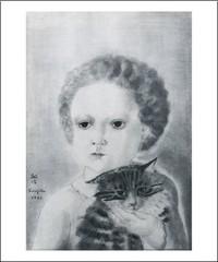 Tsuguharu Léonard Foujita (1886- 1986) enfant et son chat