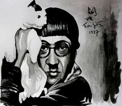 Tsuguharu Léonard  Foujita (1886- 1968) selfportrait