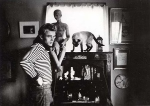 James Dean with Marcus, gift from Elisabeth Taylor