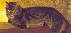 Theophile Alexandre Steinlen (1859 - 1923) chat sur le balustrade