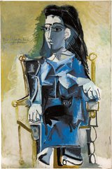 Pablo Picasso / Jacqueline seated with her cat