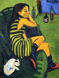 Ernst Ludwig Kirchner (1880 - 1938) Artistin Marzella
