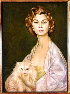 Leonor Fini (1907 - 1996) Portrait of Princess Nawal Toussoun